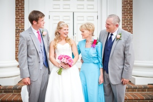 My family & I on my wedding day- August 2011 (Mom looks gorgeous doesn't she?!).
